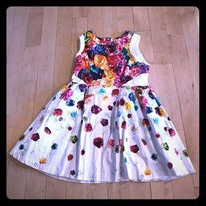 Prabal Gurung for Target white floral dress sz 16